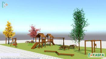 Projeto de Playground de Madeira