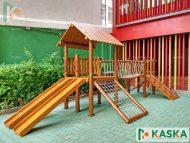 Playground Infantil em Madeira - Eucalipto Tratado - Ref. 205