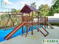 Playground Infantil em Madeira - Eucalipto Tratado - Ref. 207