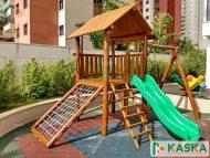 Playground Infantil em Madeira - Eucalipto Tratado - Ref. 209
