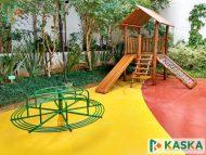 Playground Infantil em Madeira - Eucalipto Tratado - Ref. 215